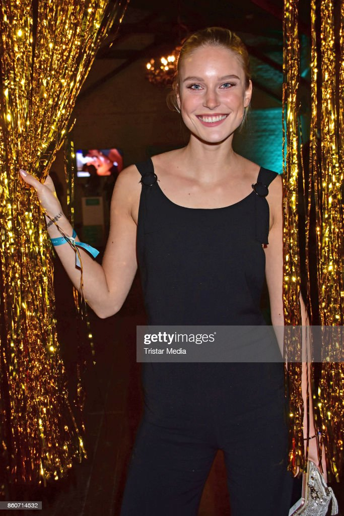 Kim Hnizdo attends the Amorelie Christmas Calender Launch Dinner on October 12, 2017 in Berlin, Germany.