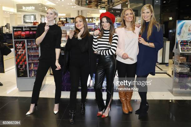 Kim Hnizdo ItGirl Kim Gloss Natalia Avelon Kerstin Linnartz and Verena Wriedt attend the Urban Decay ReOpening at KaDeWe Berlin on February 3 2017 in...