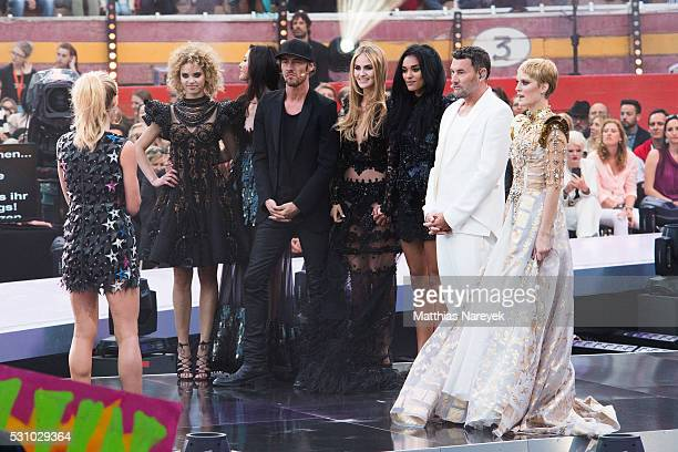 Kim Hnizdo Taynara Joy Silva Wolf Fata Hasanovic Jasmin Lekudere Elena Carriere Michael Michalsky Thomas Hayo and Heidi Klum during the finals of...