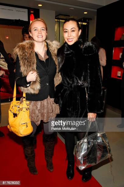 Kim Hoedeman and Renata Black attend Sony Opening At Willoughby's with Nigel Barker's 'Beauty Equation' at Willoughby's on December 9 2010 in New...