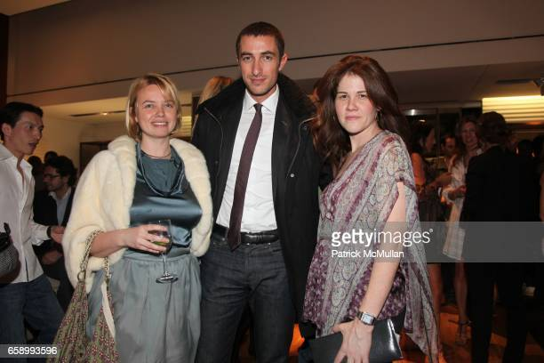 Kim Hoedeman Angelo Peruzzi and Cary Leitzes attend BALLY hosts GYPSET STYLE with Julia Chaplin at Bally Boutique on April 23 2009 in New York City