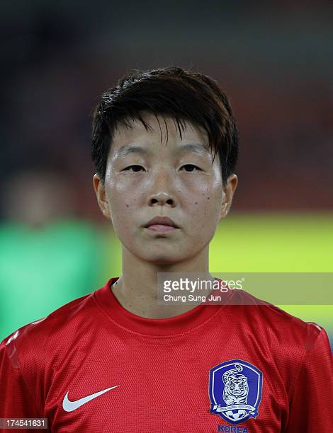 Kim HyeRi of South Korea poses during the EAFF Women's East Asian Cup match between Korea Republic and Japan at Jamsil Stadium on July 27 2013 in...