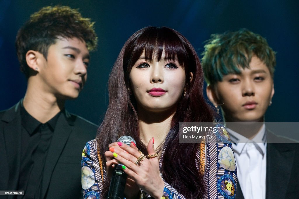 Kim Hyun-A (Hyuna) of South Korean girl group 4minute attends during the 2013 United Cube Concert on February 2, 2013 in Seoul, South Korea.