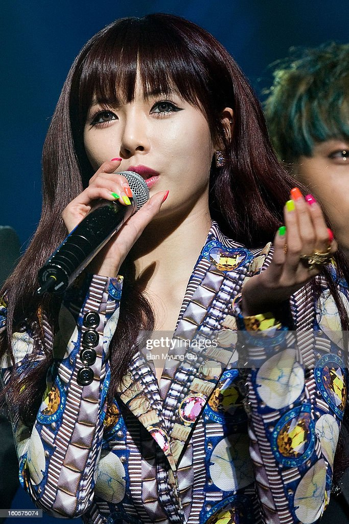 Kim Hyun-A (Hyuna) of South Korean girl group 4minute speaks during the 2013 United Cube Concert on February 2, 2013 in Seoul, South Korea.
