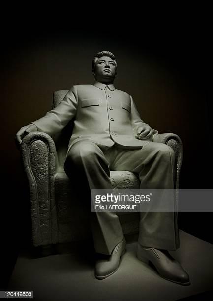 Kim Il Sung statue in North Korea on September 08 2008