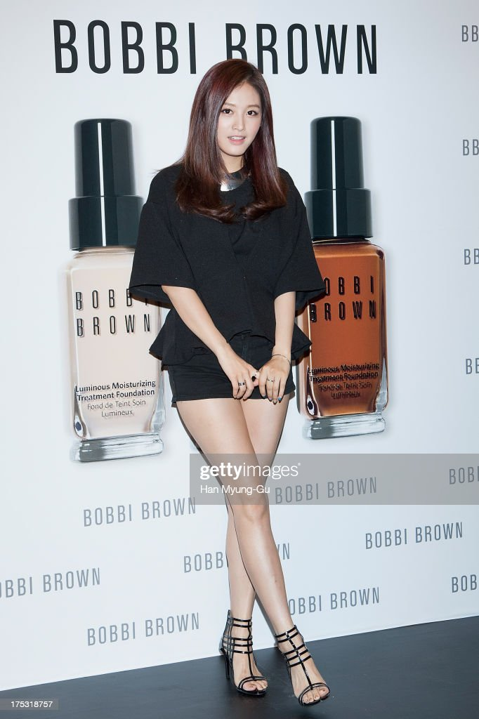 <a gi-track='captionPersonalityLinkClicked' href=/galleries/search?phrase=Kim+Jae-Kyung&family=editorial&specificpeople=10102004 ng-click='$event.stopPropagation()'>Kim Jae-Kyung</a> of South Korean girl group Rainbow attends a promotional event for the 'Bobbi Brown' Pop Up Lounge Opening Party on August 2, 2013 in Seoul, South Korea.