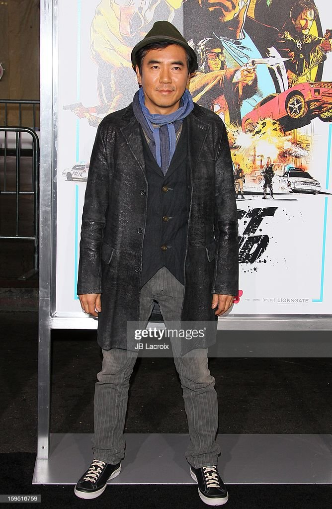 <a gi-track='captionPersonalityLinkClicked' href=/galleries/search?phrase=Kim+Jee-Woon&family=editorial&specificpeople=813304 ng-click='$event.stopPropagation()'>Kim Jee-Woon</a> attends 'The Last Stand' - Los Angeles Premiere at Grauman's Chinese Theatre on January 14, 2013 in Hollywood, California.