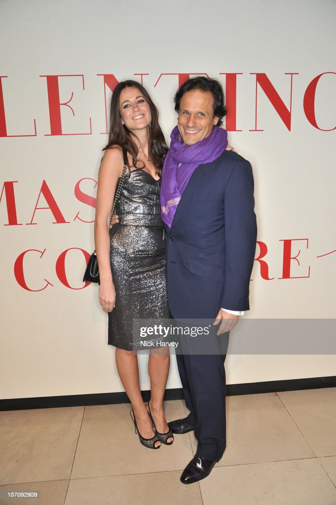 Kim Johnson and Arun Nayar attends the VIP view of Valentino: Master of Couture at Embankment Gallery on November 28, 2012 in London, England.