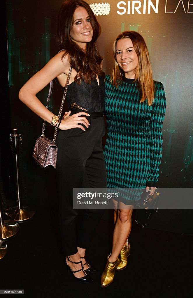Kim Johnson (L) and Juliet Angus attend as SIRIN LABS Launches SOLARIN at One Marylebone on May 31, 2016 in London, England.