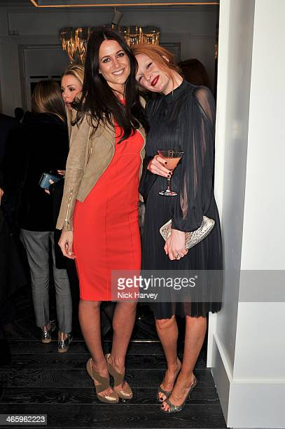 Kim Johnson and Olivia Inge attend the opening of the new Amanda Wakeley store on January 30 2014 in London England