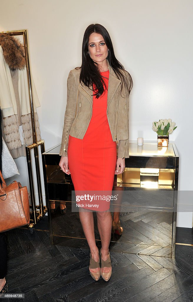 Kim Johnson attends the opening of the new Amanda Wakeley store on January 30, 2014 in London, England.