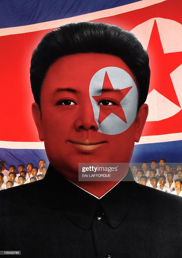 Kim Jong Il football fan in North Korea on June 17, 2009.