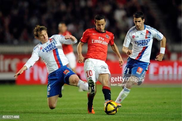 Kim KALLSTROM / NENE / Maxime GONALONS Paris Saint Germain / Lyon 31e journee Ligue 1