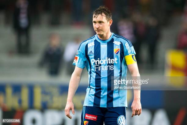Kim Kallstrom of Djurgardens IF dejected during the allsvenskan match between Kalmar FF and Djurgarden IF at Guldfageln Arena on November 5 2017 in...