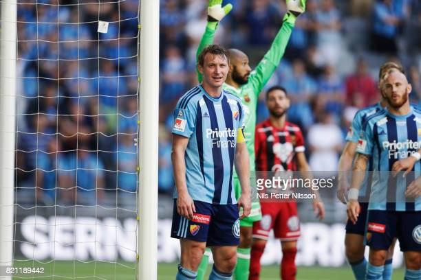 Kim Kallstrom of Djurgardens IF during the Allsvenskan match between Djurgardens IF and Ostersunds FK at Tele2 Arena on July 23 2017 in Stockholm...