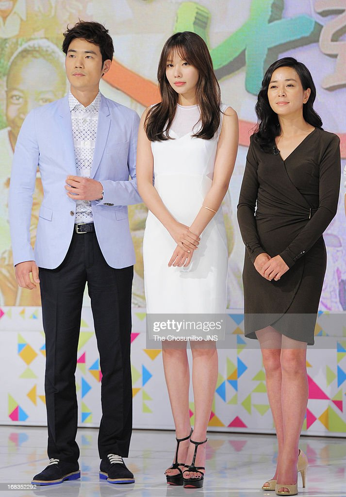 Kim Kang-Woo, Kim A-Joong and Cho Min-Soo attend the '2013 Hope TV SBS' Press Conference at SBS Prism Tower on May 8, 2013 in Seoul, South Korea.