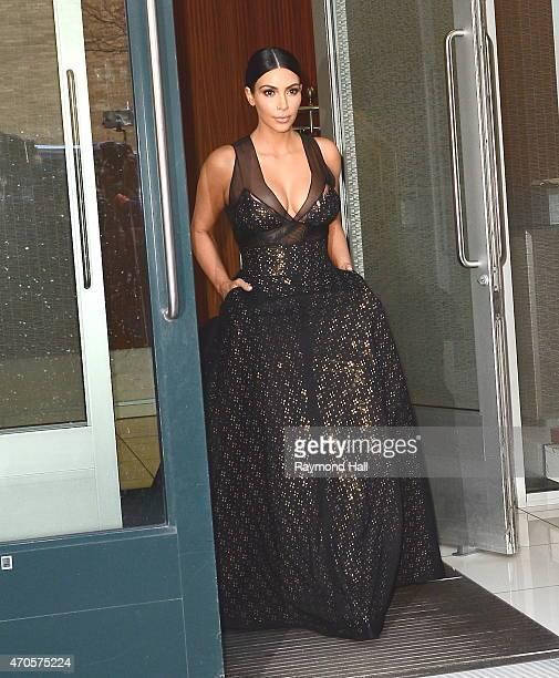 Kim Kardashan is seen in Soho 15 on April 21 2015 in New York City