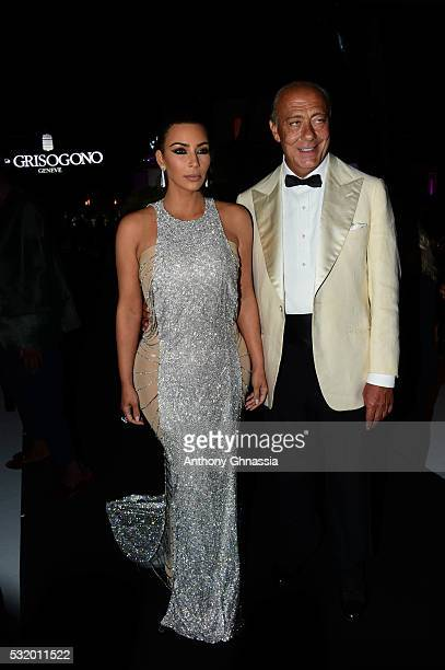 Kim Kardashian and Fawaz Gruosi attend the De Grisogono Party at the annual 69th Cannes Film Festival at Hotel du CapEdenRoc on May 17 2016 in Cap...