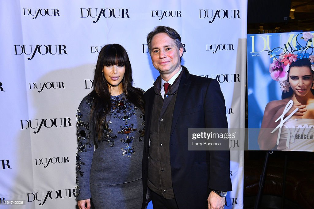 Kim Kardashian and Jason Binn attend the DuJour Magazine Spring 2013 Issue Celebration at The Darby on March 27, 2013 in New York City.