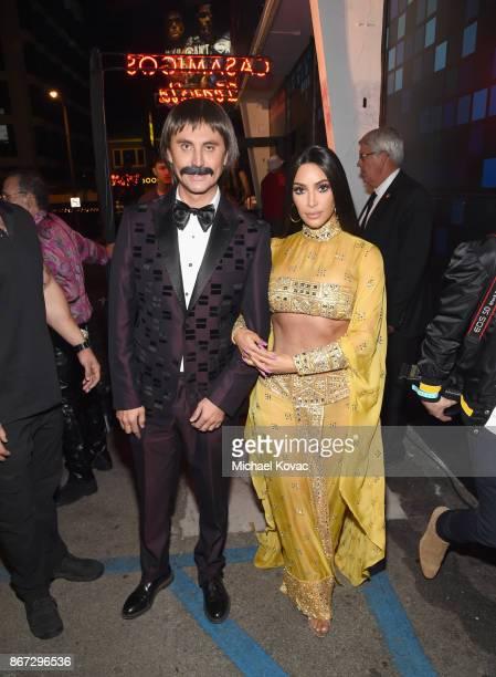 Kim Kardashian and Jonathan Cheban attend Casamigos Halloween Party on October 27 2017 in Los Angeles California