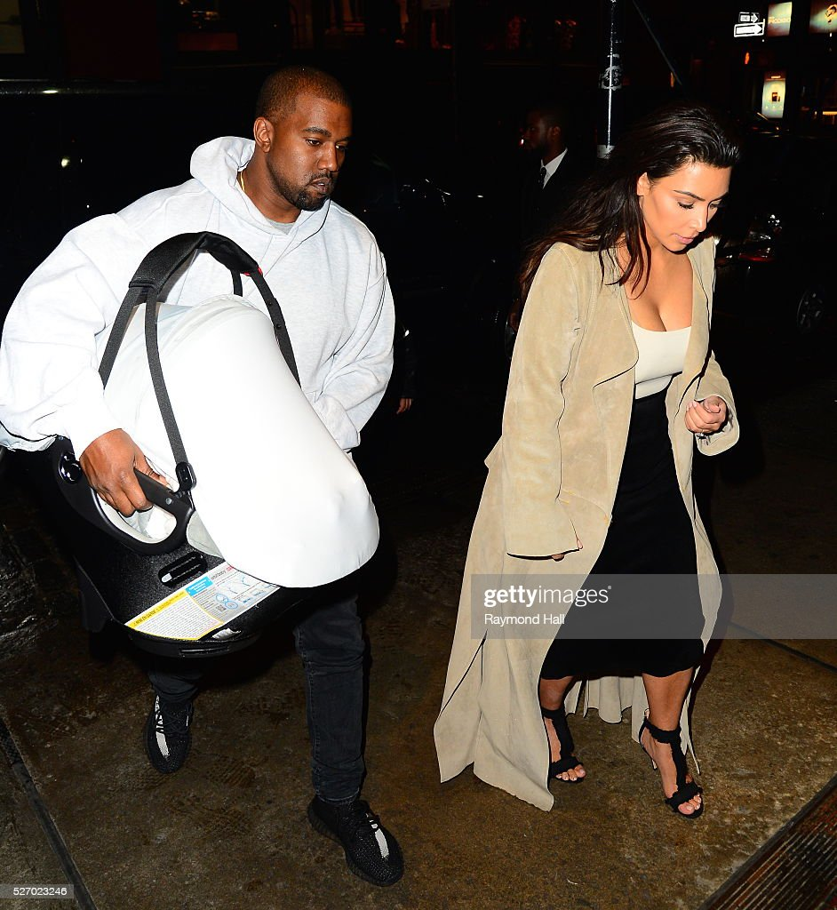 <a gi-track='captionPersonalityLinkClicked' href=/galleries/search?phrase=Kim+Kardashian&family=editorial&specificpeople=753387 ng-click='$event.stopPropagation()'>Kim Kardashian</a> and kanye west and saint west are seen in Midtown on May 1, 2016 in New York City.