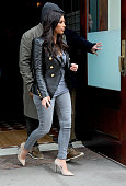 Kim Kardashian and Kanye West are seen on March 25 2014 in New York City