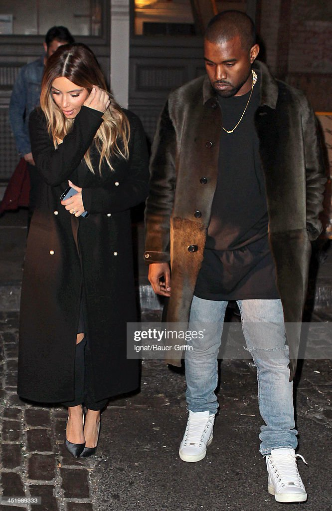 <a gi-track='captionPersonalityLinkClicked' href=/galleries/search?phrase=Kim+Kardashian&family=editorial&specificpeople=753387 ng-click='$event.stopPropagation()'>Kim Kardashian</a> and <a gi-track='captionPersonalityLinkClicked' href=/galleries/search?phrase=Kanye+West+-+Musician&family=editorial&specificpeople=201803 ng-click='$event.stopPropagation()'>Kanye West</a> are seen on November 25, 2013 in New York City.