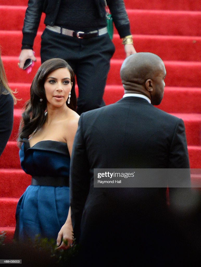 Kim Kardashian and Kanye West attend the 'Charles James: Beyond Fashion' Costume Institute Gala held at the Metropolitan Museum of Art on May 5, 2014 in New York City.