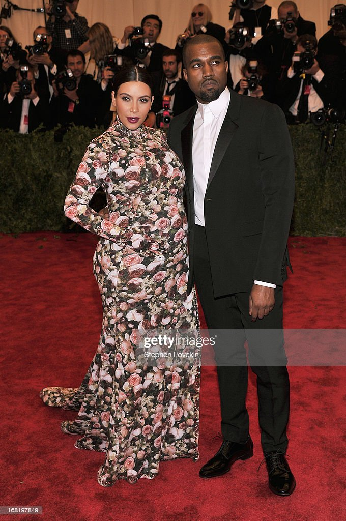 Kim Kardashian and Kanye West attend the Costume Institute Gala for the 'PUNK: Chaos to Couture' exhibition at the Metropolitan Museum of Art on May 6, 2013 in New York City.
