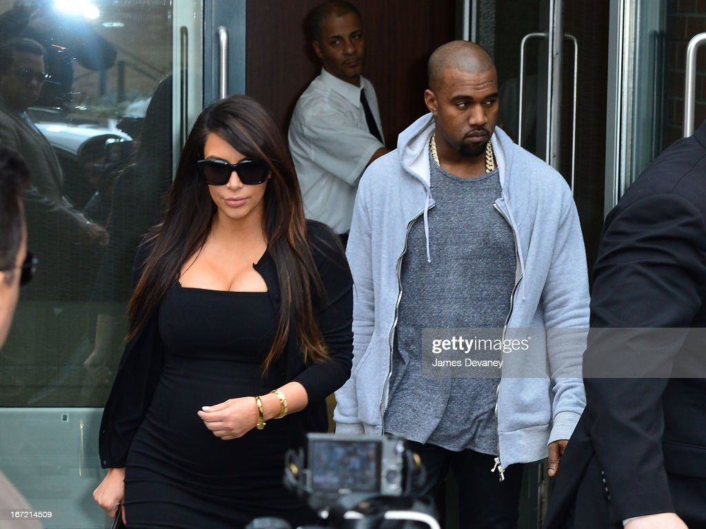 <a gi-track='captionPersonalityLinkClicked' href=/galleries/search?phrase=Kim+Kardashian&family=editorial&specificpeople=753387 ng-click='$event.stopPropagation()'>Kim Kardashian</a> and <a gi-track='captionPersonalityLinkClicked' href=/galleries/search?phrase=Kanye+West+-+Musician&family=editorial&specificpeople=201803 ng-click='$event.stopPropagation()'>Kanye West</a> seen on the streets of Manhattan on April 22, 2013 in New York City.