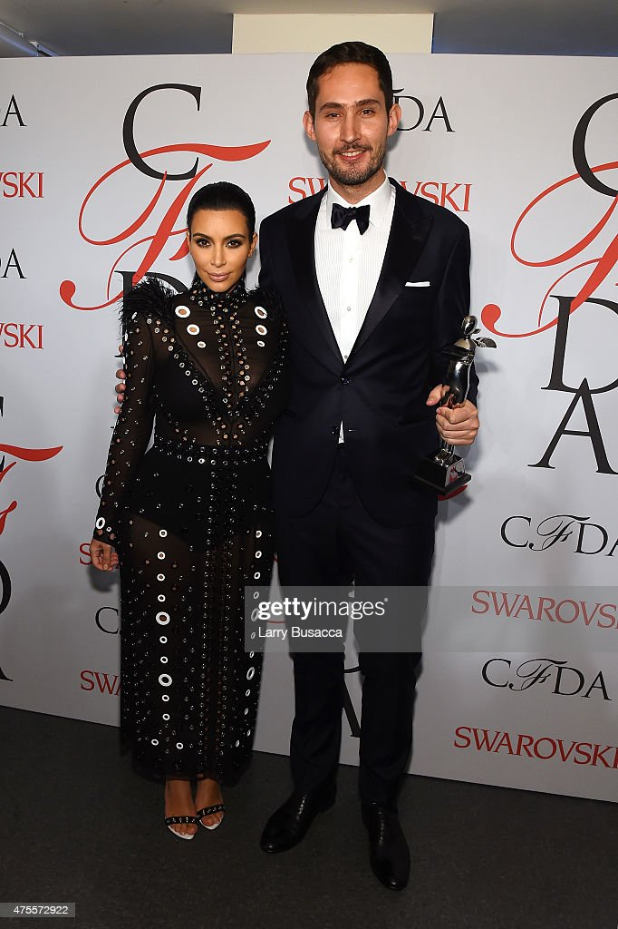 <a gi-track='captionPersonalityLinkClicked' href=/galleries/search?phrase=Kim+Kardashian&family=editorial&specificpeople=753387 ng-click='$event.stopPropagation()'>Kim Kardashian</a> and <a gi-track='captionPersonalityLinkClicked' href=/galleries/search?phrase=Kevin+Systrom&family=editorial&specificpeople=7804585 ng-click='$event.stopPropagation()'>Kevin Systrom</a> pose on the winners walk at the 2015 CFDA Fashion Awards at Alice Tully Hall at Lincoln Center on June 1, 2015 in New York City.