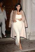 Kim Kardashian and Khloe Kardashian are seen in midtown on February 10 2015 in New York City