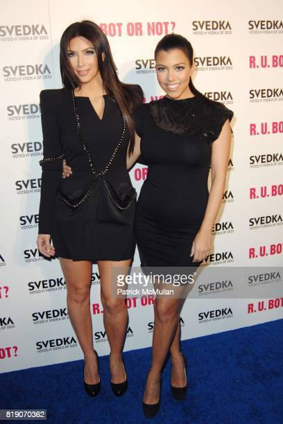 Kim Kardashian and Kourtney Kardashian attend KIM KARDASHIAN vs KOURTNEY KARDASHIAN at SVEDKA VODKA'S 'RU BOT OR NOT' BATTLE OF THE BOTS at...