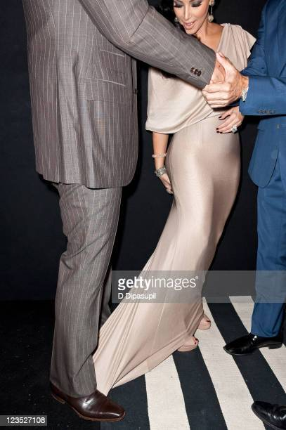Kim Kardashian and Kris Humphries attend A Night of Style Glamour to welcome newlyweds Kim Kardashian and Kris Humphries at Capitale on August 31...
