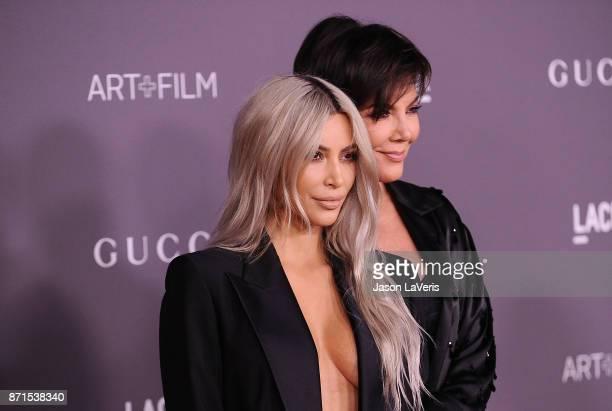 Kim Kardashian and Kris Jenner attend the 2017 LACMA Art Film gala at LACMA on November 4 2017 in Los Angeles California