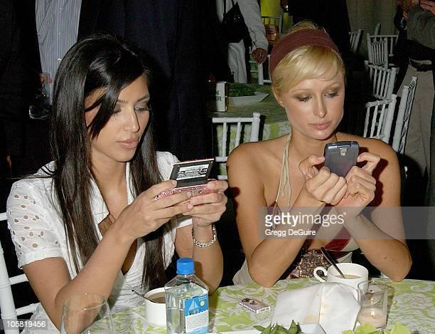 Kim Kardashian and Paris Hilton during 'Entourage' Los Angeles Premiere Red Carpet at Cinerama Dome in Hollywood California United States