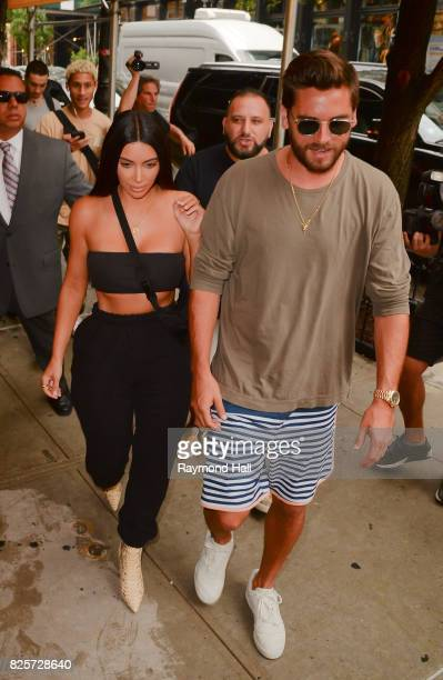 Kim Kardashian and Scott Disick are seen on August 2 2017 in New York City