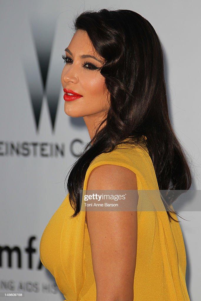 Kim Kardashian arrives at amfAR's Cinema Against AIDS at Hotel Du Cap on May 24, 2012 in Antibes, France.
