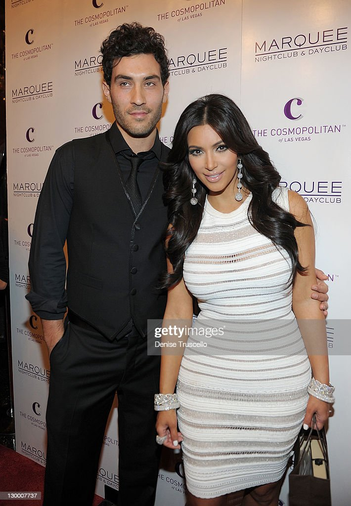 Kim Kardashian arrives at her birthday at Marquee Nightclun at the Cosmopolitan on October 22, 2011 in Las Vegas, Nevada.