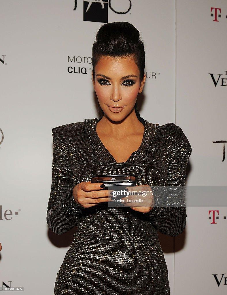 Kim Kardashian arrives at TAO Nightclub at the Venetian on October 16 2009 in Las Vegas Nevada