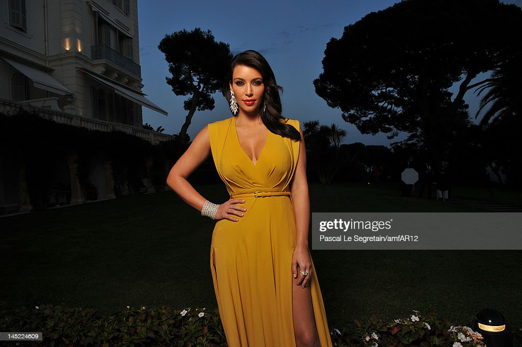 <a gi-track='captionPersonalityLinkClicked' href=/galleries/search?phrase=Kim+Kardashian&family=editorial&specificpeople=753387 ng-click='$event.stopPropagation()'>Kim Kardashian</a> arrives at the 2012 amfAR's Cinema Against AIDS during the 65th Annual Cannes Film Festival at Hotel Du Cap on May 24, 2012 in Cap D'Antibes, France.