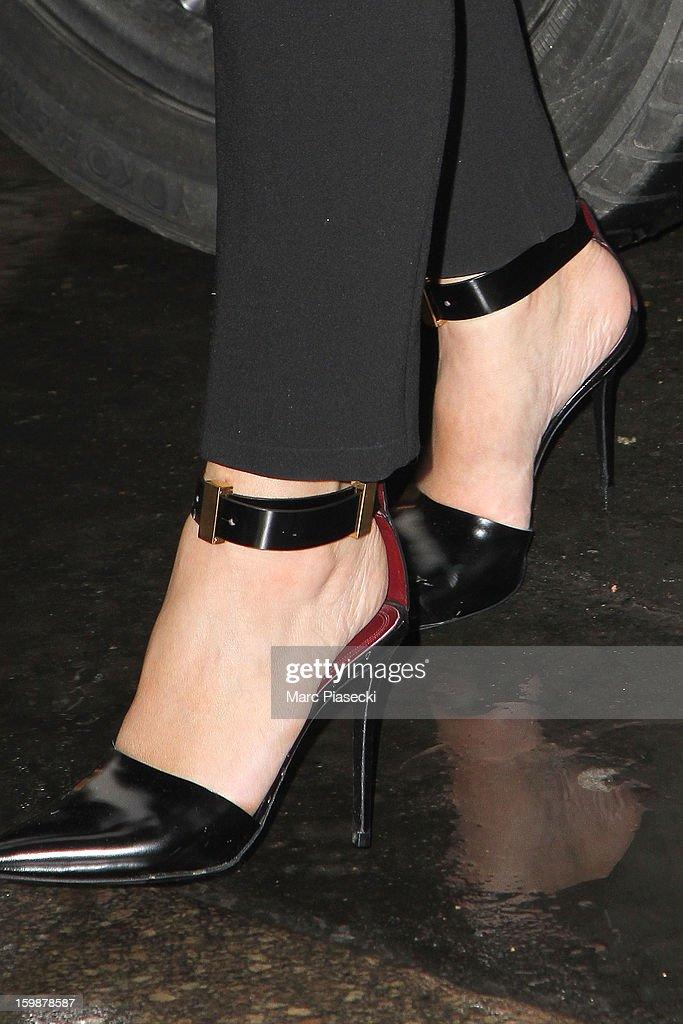 Kim Kardashian (shoe detail) arrives at the 'Costes' restaurant on January 22, 2013 in Paris, France.