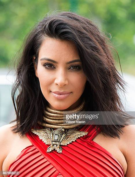 Kim Kardashian arrives at the Roc Nation PreGRAMMY Brunch on February 7 2015 in Beverly Hills California