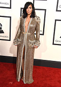 Kim Kardashian arrives at the The 57th Annual GRAMMY Awards on February 8 2015 in Los Angeles California
