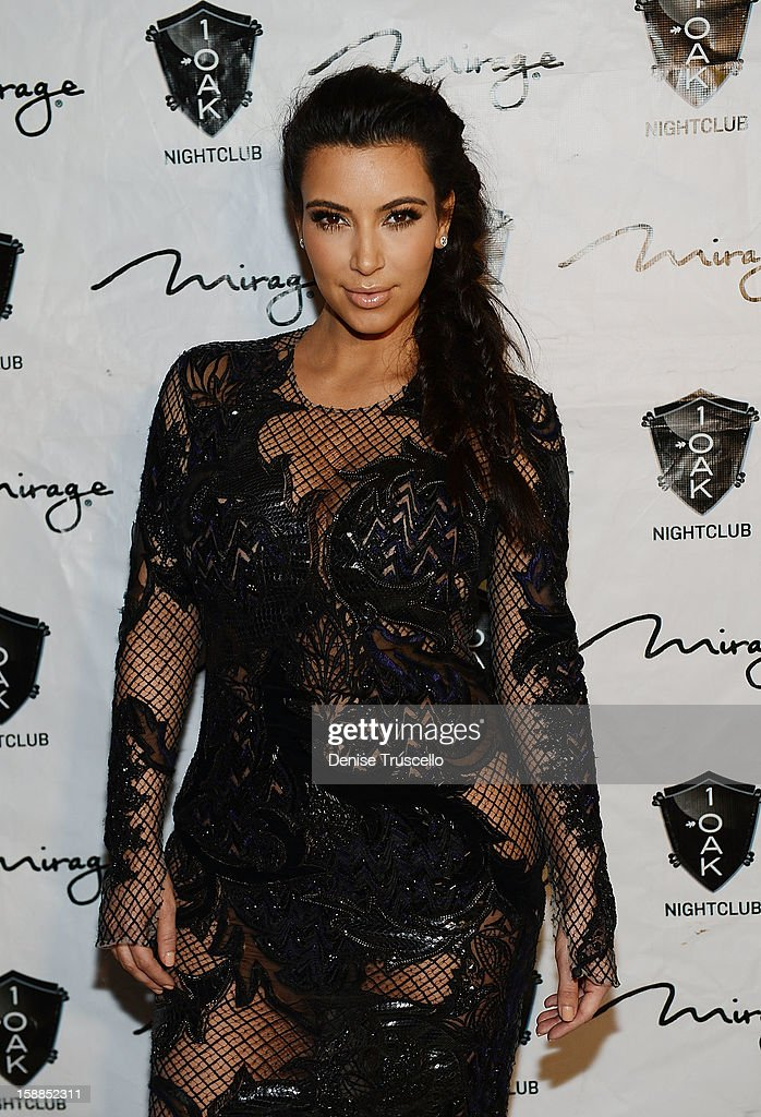 <a gi-track='captionPersonalityLinkClicked' href=/galleries/search?phrase=Kim+Kardashian&family=editorial&specificpeople=753387 ng-click='$event.stopPropagation()'>Kim Kardashian</a> arrives for the New Year's Eve countdown at 1 OAK Nightclub at The Mirage Hotel & Casino on December 31, 2012 in Las Vegas, Nevada.