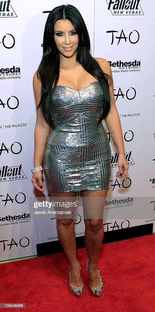 Kim Kardashian arrives to celebrate her 30th birthday at the Tao Nightclub at the Venetian Resort Hotel Casino on October 15 2010 in Las Vegas Nevada