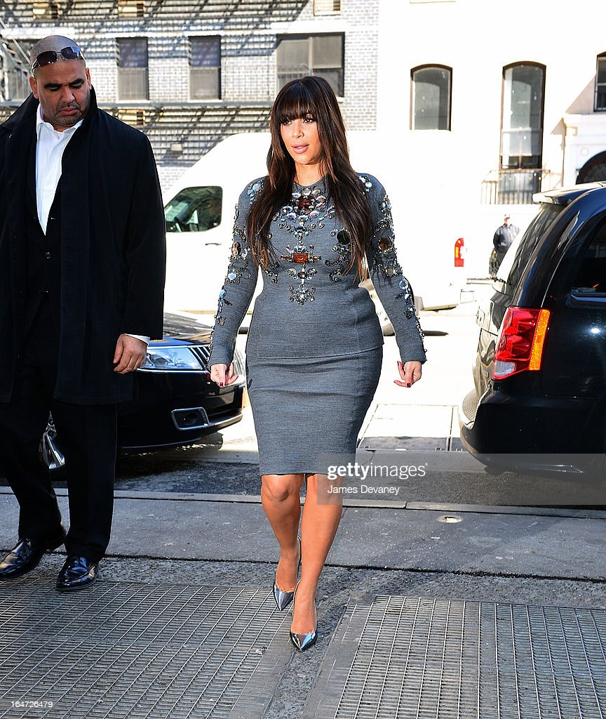 Kim Kardashian arrives to The Darby on March 27, 2013 in New York City.