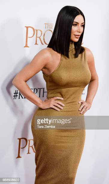 Kim Kardashian arrives to the Los Angeles premiere of 'The Promise' at TCL Chinese Theatre on April 12 2017 in Hollywood California