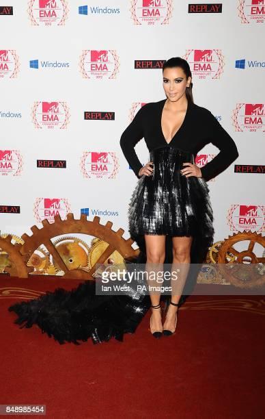 Kim Kardashian arriving for the 2012 MTV Europe Music Awards at the Festhalle Frankfurt Germany