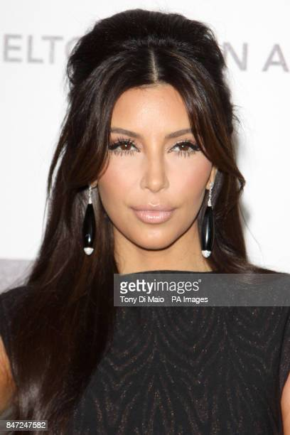 Kim Kardashian arriving for the Elton John Aids Foundation Academy Awards Viewing Party at West Hollywood Park in Los Angeles USA on Sunday Feb 26...